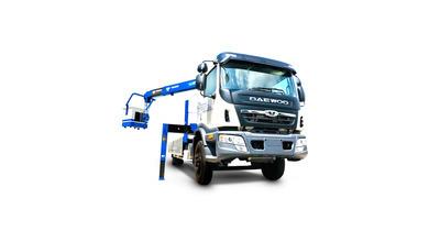 Daewoo prime gắn cẩu tanado 5 tấn tải trọng 7.1 tấn