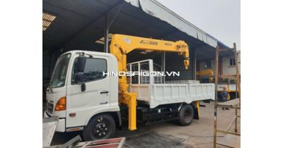 Hino FC 6,4 tấn Gắn Cẩu Soosan SCS525 ( 5 tấn 5 khúc )