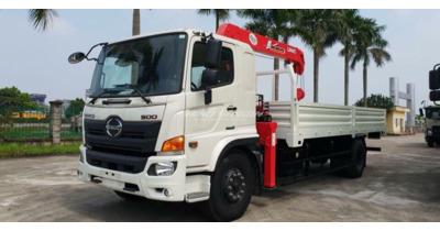 Hino FG8JP7A-F gắn cẩu unic URV555TL tải trọng 6.5 tấn