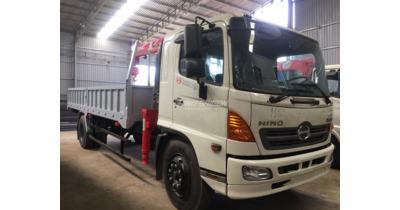 Hino FG8JT7A-H gắn cẩu unic URV344 tải trọng 6.5 tấn