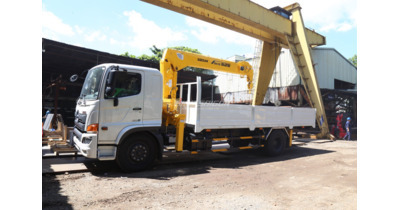Hino FL8JW7A gắn cẩu soosan SCS525 tải trọng 12.2 tấn