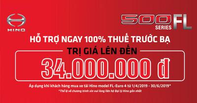 Hino hỗ trợ phí trước bạ đối với dòng xe tải hino Series 500 FL euro 4