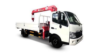 Hino XZU720L gắn cẩu unic URV340 tải trọng 2.5 tấn