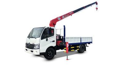 Hino XZU730L gắn cẩu unic URV344 tải trọng 3.490 kg