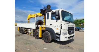 Hyndai HD320 4 Chân Gắn Cẩu Soosan SCS1015LS 12 tấn