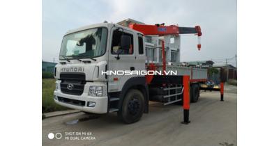 Hyundai hd260 lắp cẩu Kanglim KS2056 (8 tấn 6 khúc) tải trọng 9,2 tấn