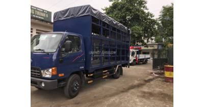 Hyundai HD700 chở xe máy tải trọng 7 tấn