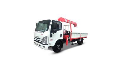 Isuzu FRR90NE4 gắn cẩu unic URV344 tải trọng 5 tấn