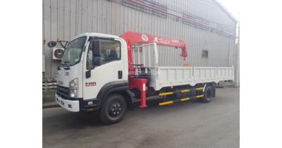 Isuzu FRR90NE4 gắn cẩu unic URV375 tải trọng 4.990 kg