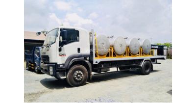 Isuzu FVR34QE4 chở mũ cao su tải trọng 8 tấn