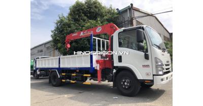 Isuzu NQR75M gắn cẩu Unic URV345 tải trọng 4.600 kg